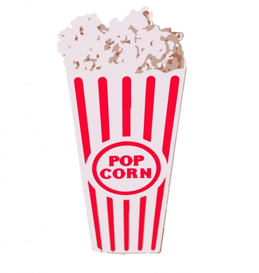 Cartoon+designed+by+Haley+Grimes.+Movies+are+always+best+enjoyed+with+a+favorite+snack.+A+popular+movie+snack+for+many+is+popcorn.