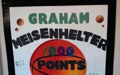 Someone close to Graham Meisenhelter made this poster to cheer him on. Spectators are limited to only a few people so the poster was made to cheer him on while family and friends cant be there in person.